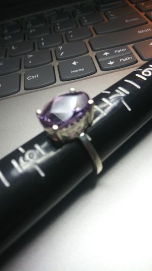 Beautiful Size-8 .925 Silver Ring - Genuine Amethyst for Sale in Wenatchee, WA