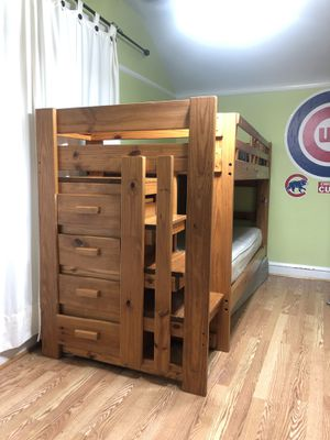 Twin bunk bed solid wood for Sale in Oak Park, IL