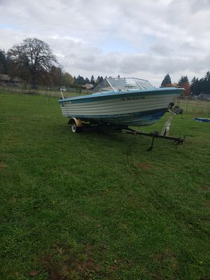 1969 19 foot boat and trailer for Sale in Oregon City, OR