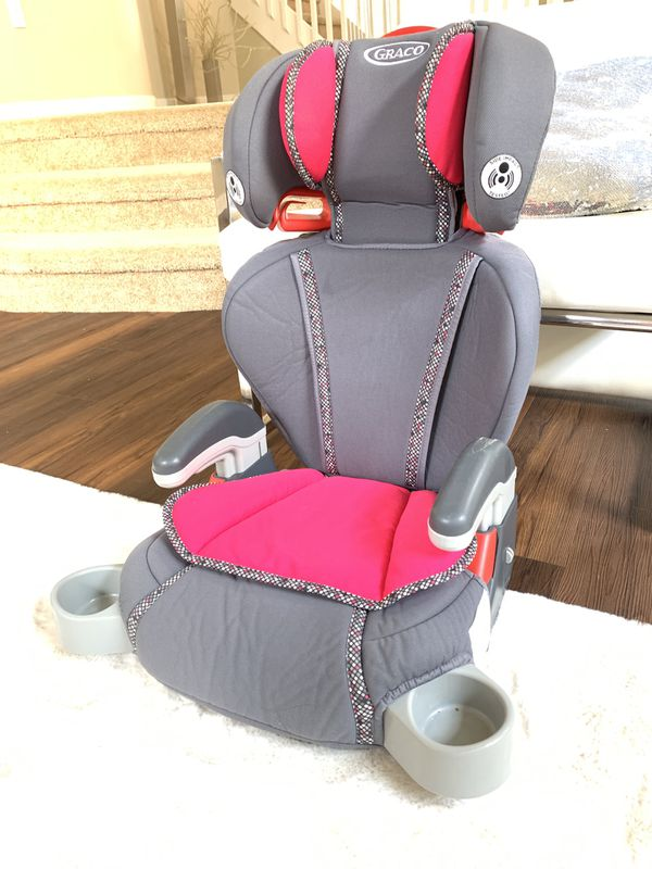 Girls Car Seat Booster Seat 3 levels Adjustable Graco