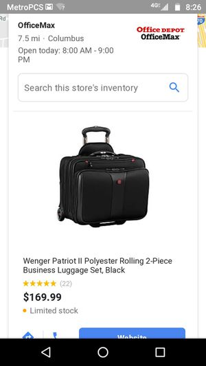 Patriot 2 luggage w laptop carrying compartment for Sale in Columbus, OH