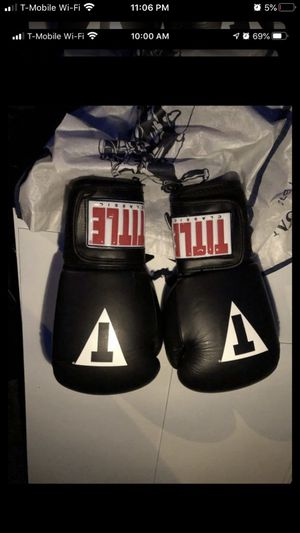 TITLE boxing gloves- 14 oz Brand new $60 for Sale in Whittier, CA