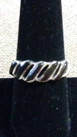 New! Black onyx, Sterling swirled ring size 7 for Sale in Palmetto, FL