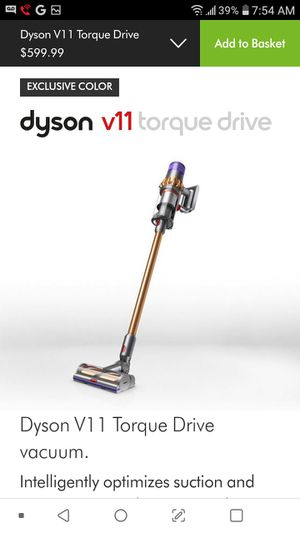 Dyson V11 Torque Drive vacuum. Intelligently optimizes suction and run time. Deep cleans everywhere. for Sale in Phoenix, AZ