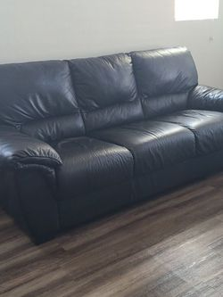 Leather Couch 3 Person Fixed Like NEW for Sale in Alta,  UT