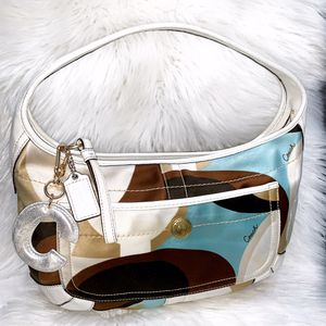 Used, Authentic Coach Scarf Print Style Purse for Sale for sale  Chandler, AZ