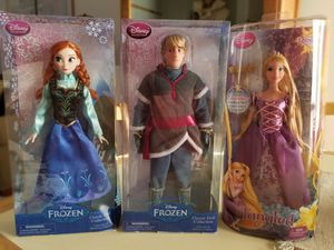 NEW IN BOXES FROZEN ANNA AND KRISTOFF AND TANGLED RAPUNZEL. PICK UP MIDDLEBORO ONLY for Sale in Middleborough, MA