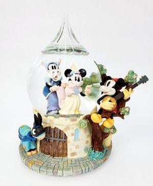"Disney Minnie & Mickey ""Ye Olden Days"" Musical Snowglobe (Minnie's Yoo Hoo) for Sale in Trenton, NJ"