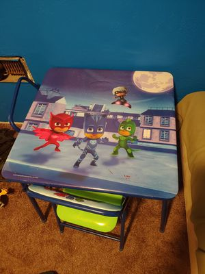 PJ Masks Toddler Table and Chairs for Sale in Aberdeen, WA