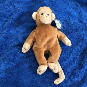 Monkey beanie baby with tag for Sale in St. Helens, OR