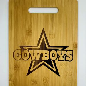 Dallas cowboys laser engraved cuttingboard NFL Christmas pop gift kitchen for Sale in Los Angeles, CA