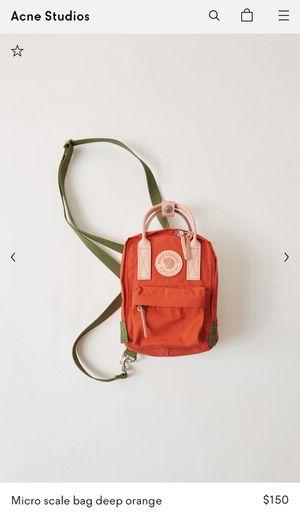 Acne studios x fjällräven Micro scale bag deep orange for Sale in Los Angeles, CA