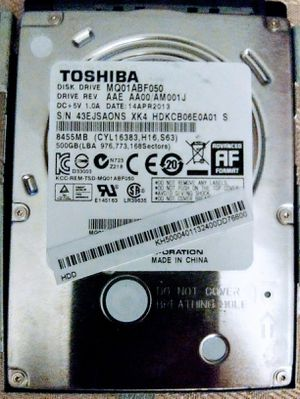 Toshiba 500 Gig Laptop/Notebook Hard Drive for Sale in Kansas City, MO