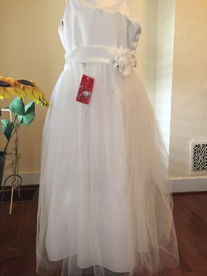 Cute New formal girls white dress for Sale in Frederick, MD