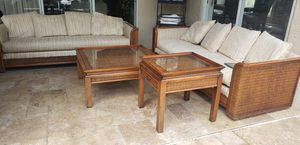 2 sofas and coffee table with end table for Sale in Hudson, FL