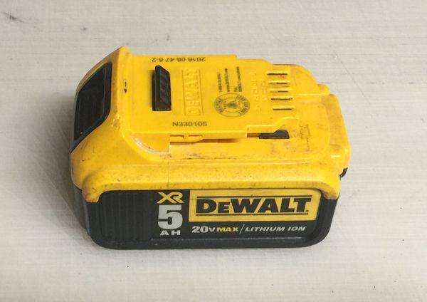 Dewalt XR 5ah 20v Max Battery