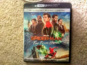 Spider-man far from home marvel 4K Blu-ray disc for Sale in Grapevine, TX