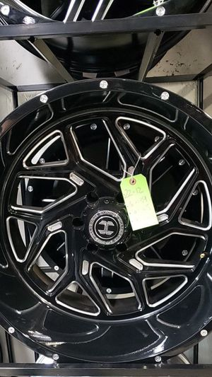 22x12 black hardcore rims 6 lug 6x139 6x5.5 on new tires 33 1250 22 lt for Sale in Phoenix, AZ