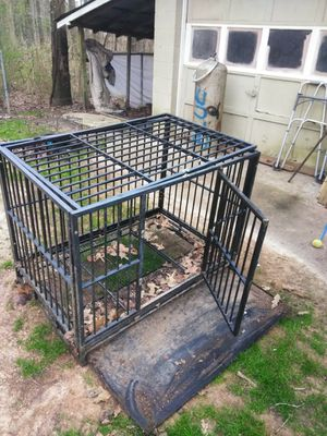 PANEY Large Heavy Duty Dog Crate Folding Mental Kennel Playpen w/Wheels & Tray Pet Home for Sale in Lithia Springs, GA