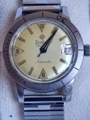 SALE OR TRADE RARE VINTAGE 1960 ZODIAC SEA WOLF CIRCA AUTOMATIC DIVE WATCH ORIGINAL AUTHENTIC WORKS PERFECT for Sale in Anaheim, CA