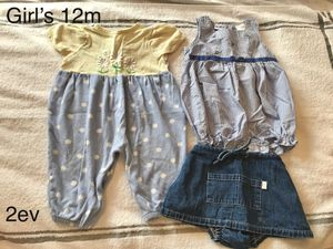 Girl's 12 Month Clothing Set: Babies, Toddlers, Onesies, Skirt for Sale in Rutherford, NJ
