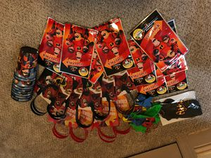 Assorted incredibles birthday favors for Sale in Bremerton, WA