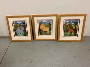 3 cuadros infantiles for Sale in Surfside, FL
