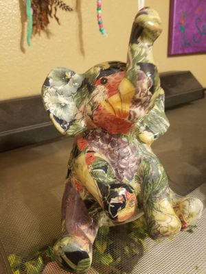 Gorgeous Floral Print Ceramic Elephant Decor for Sale in Hesperia, CA