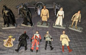 Star Wars Action Figures Lot Ship and Star Wars Figure Stands for Sale in Tigard, OR