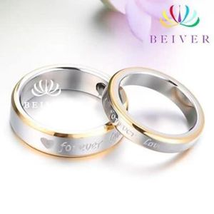 """2 pcs """"Forever Love"""" -- Luxury Stainless Set Sizes: W-7 , M-9 for Sale in Brownsboro, TX"""