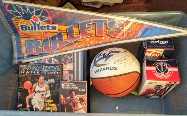 Washington Wizards Bullets Collectibles Lot