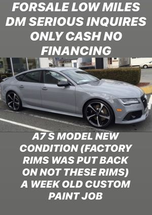 IF THE AD IS UP ITS STILL AVAILABLE $21500 2013 A7 S MODEL LOW MILEAGE CONTACT FOR SERIOUS INQUIRES ONLY CASH NO TRADE DONT ASK for Sale in Philadelphia, PA