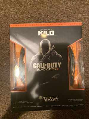 Turtle Beach Ear Force KILO Call of Duty Black/Orange Headband Headsets Ps3 xbox for Sale in Yonkers, NY