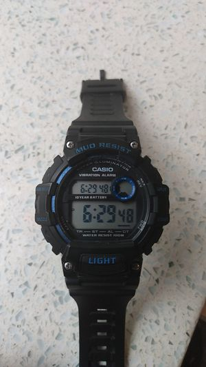 Casio g shock watch black and blue new for Sale in Portland, OR