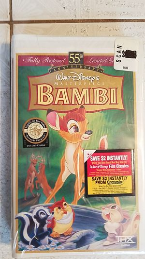 Bambi NEW VHS Tape - fully restored 55th Anniversary Edition for Sale in Old Bridge, NJ