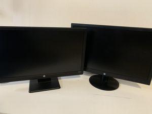 Dual Hp computer monitors for Sale in Minooka, IL
