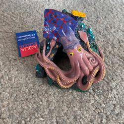New Aqua Squid Fish Tank Aquarium Ornament Decoration Cave Tunnel for Sale in Fremont,  CA