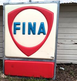 Antique FINA Fuel Sign for Sale in Spring,  TX