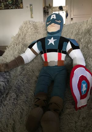"27"" Captain America/marvels stuffed animal $18 for Sale in Menifee, CA"