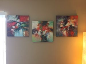 Three Abstract Art Canvas Prints for Sale in Los Angeles, CA