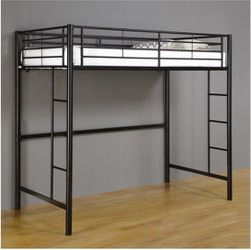 Metal Twin Loft Bunk Bed In Black Color for Sale in Oakland,  CA