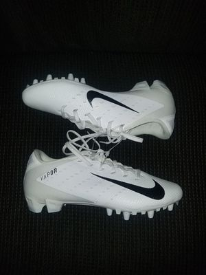 Nike Football Cleats 11.5 Vapor Speed 3 Low TD Men's White Black for Sale in Montebello, CA