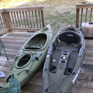 2 10 Foot Long Kayaks Green for Sale in Farmville, VA