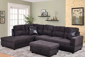 New sectional with storage Ottoman Espresso for Sale in Puyallup, WA