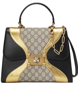 Gucci Osiride Medium Supreme Black & Gold Leather Satchel for Sale in Sterling Heights, MI