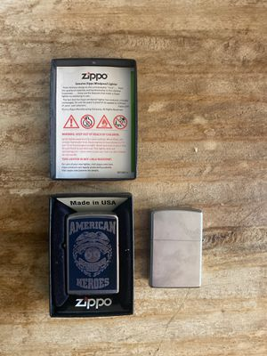 2 Zippo Lighter - one Special edition American hero's for Sale in Atlanta, GA
