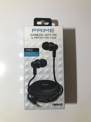 New iWorld Prime Ear Buds With Microphone And Case Black Headphones for Sale in San Diego, CA