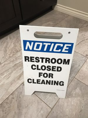 Cleaning sign - restroom for Sale in Poway, CA