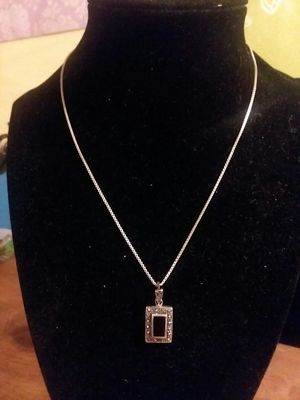 Sterling vintage black onyx necklace for Sale in Northumberland, PA