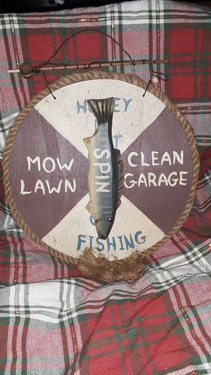 Fishing/Chore Spinner Sign for Sale in Glyndon, MD
